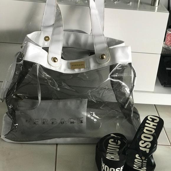 e2f09e8c7f Transparent Versace parfums bag👌. M_5af9cb4fcaab4479dbfb0b9a
